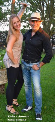 I Maestri di Ballo Antonio Greco e Viola Baldas.